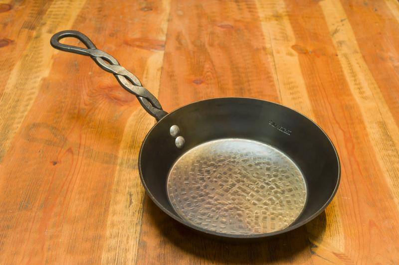 "9"" Crepe Pan, 2.5"" Deep, Braided Handle."