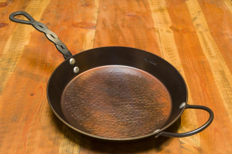 "12"" Frying Pan, 2"" deep with 1 Loop & 1 Braided Handle"